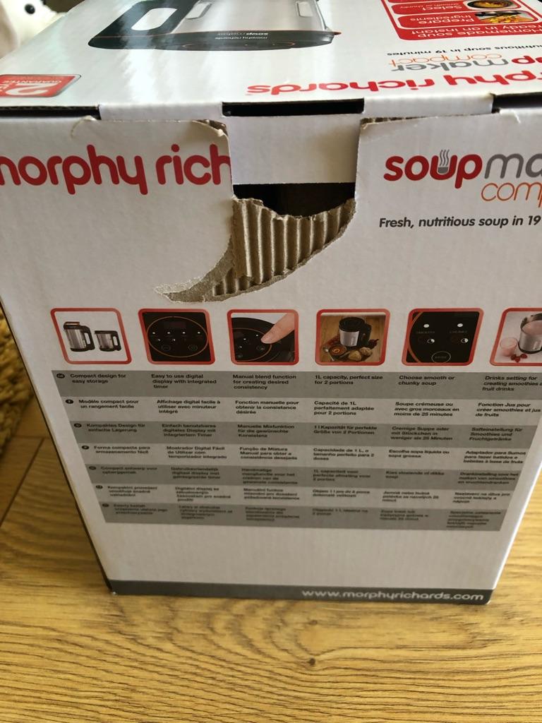Morphy Richards soup maker BNIB