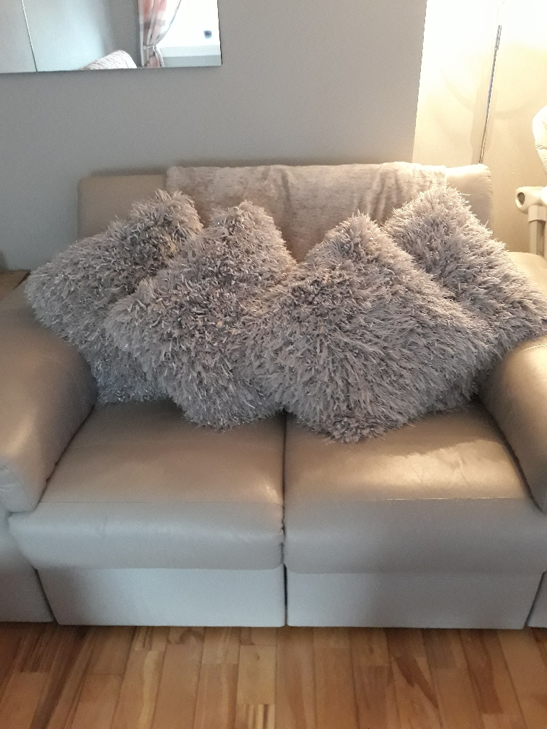 NEXT silver rug with 4 matching cushions