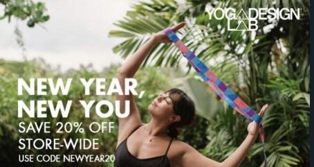 Yoga mats and accessories 20% off using my code below