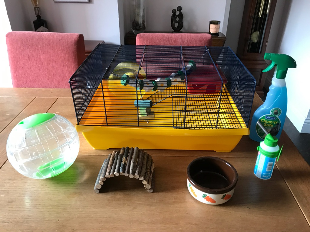 Hamster cage - and accessories
