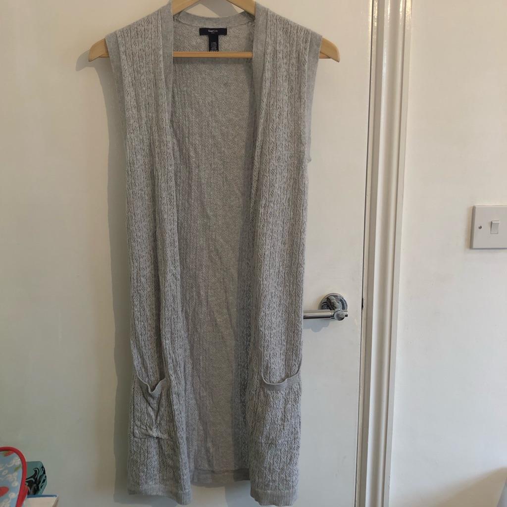 Grey sleeveless cardigan - size 13 years