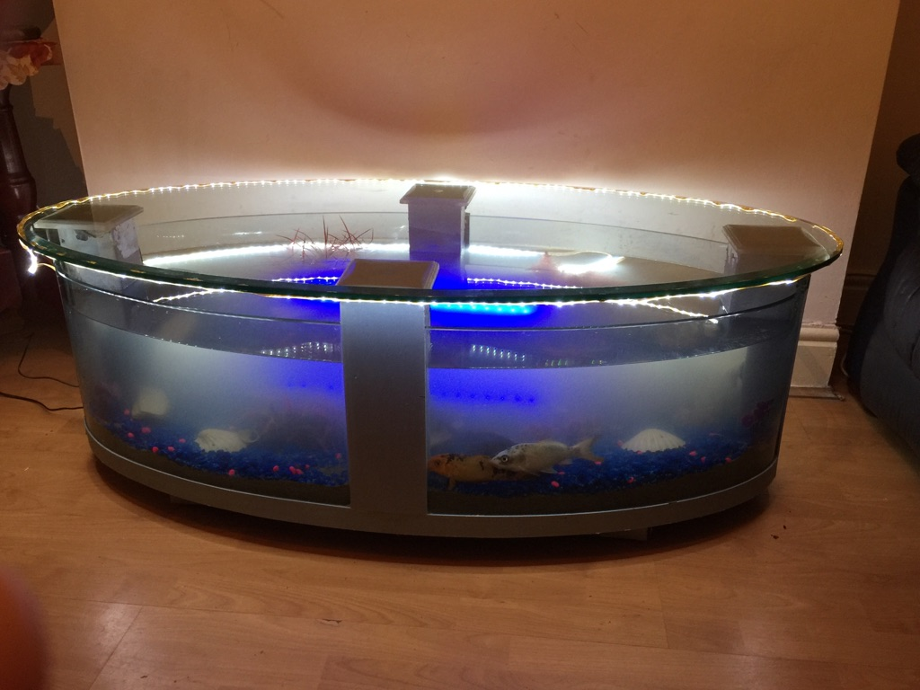 Fish tank (type coffe table) 200 litre