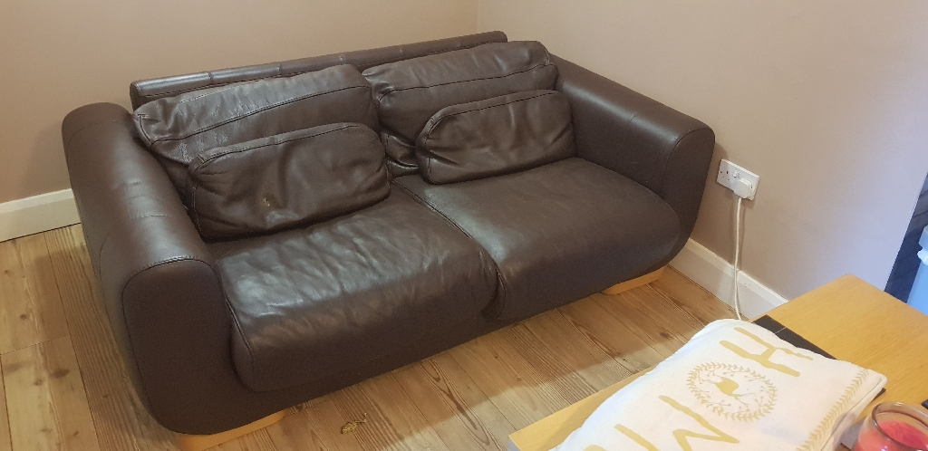 Italian leather sofa baker and storehouse