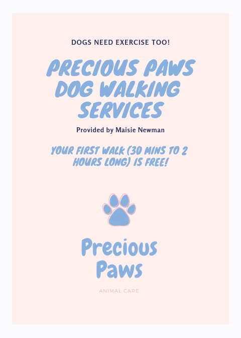 Precious Paws - Dog Walking Service