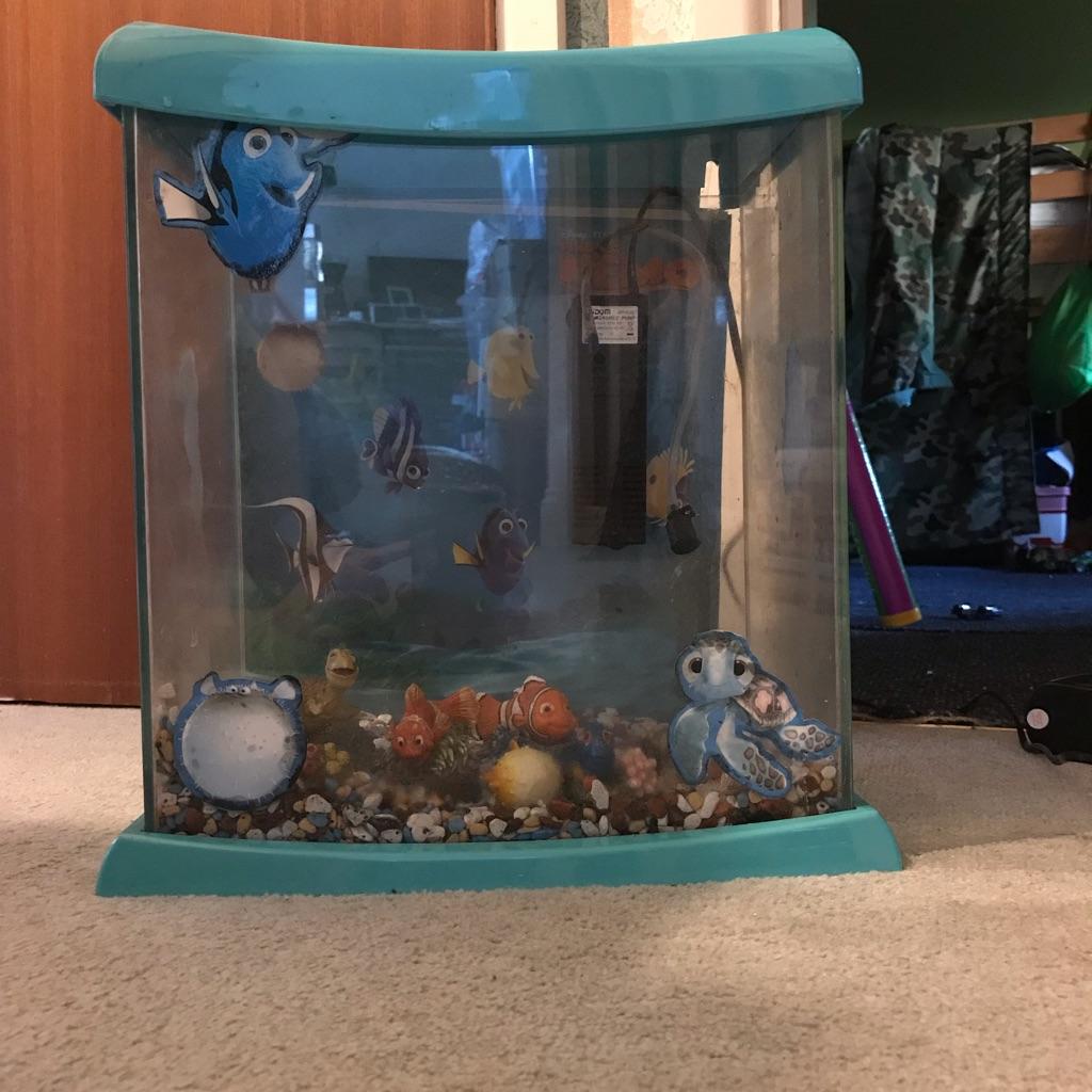 Finding nemo glass fish tank