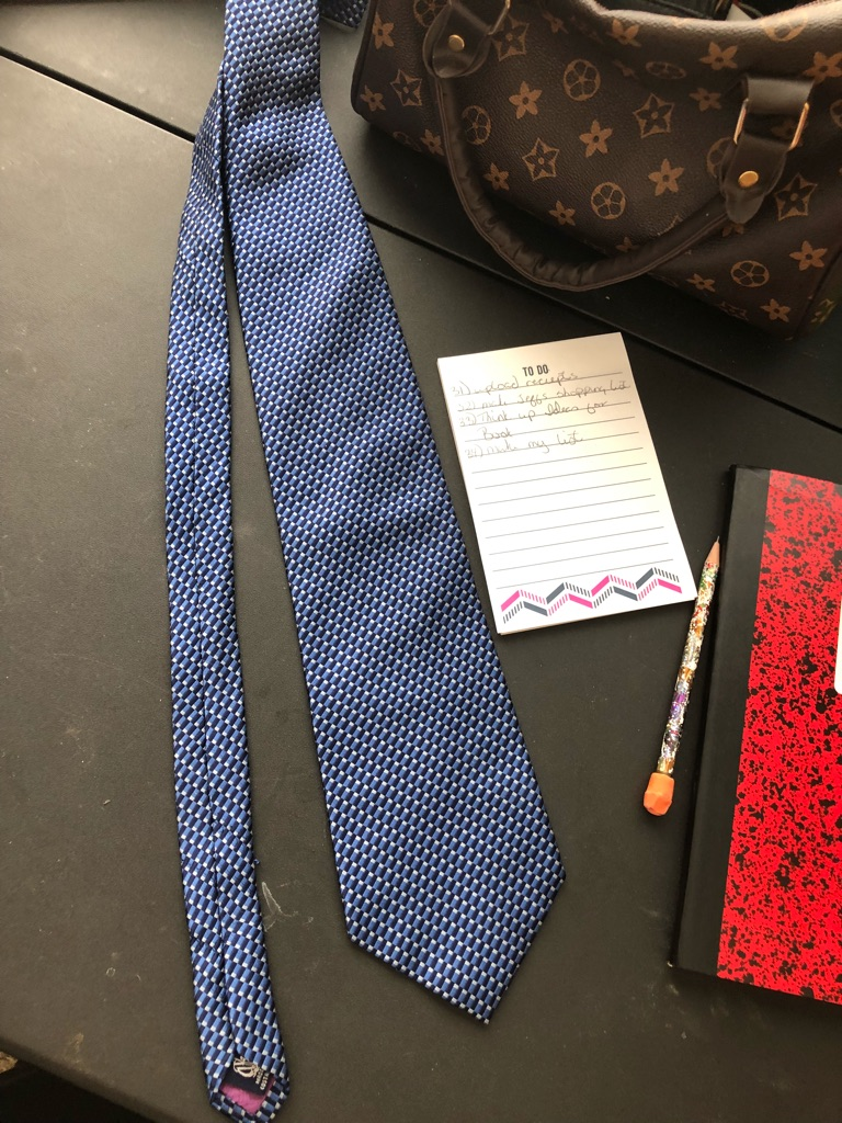 Nautica blue pattern tie