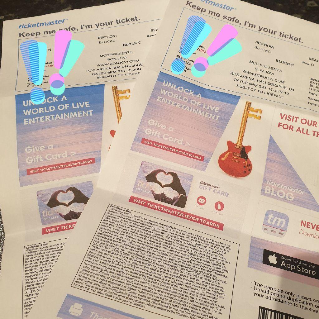 Bon Jovi concert (seated) tickets