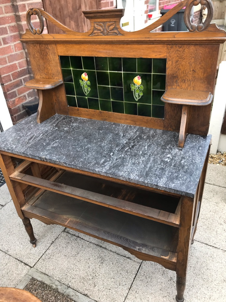 Victoria style marble washstand