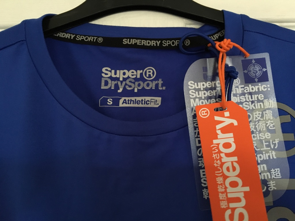 Superdry Sports T-shirt Small man fit teenager Royal Blue