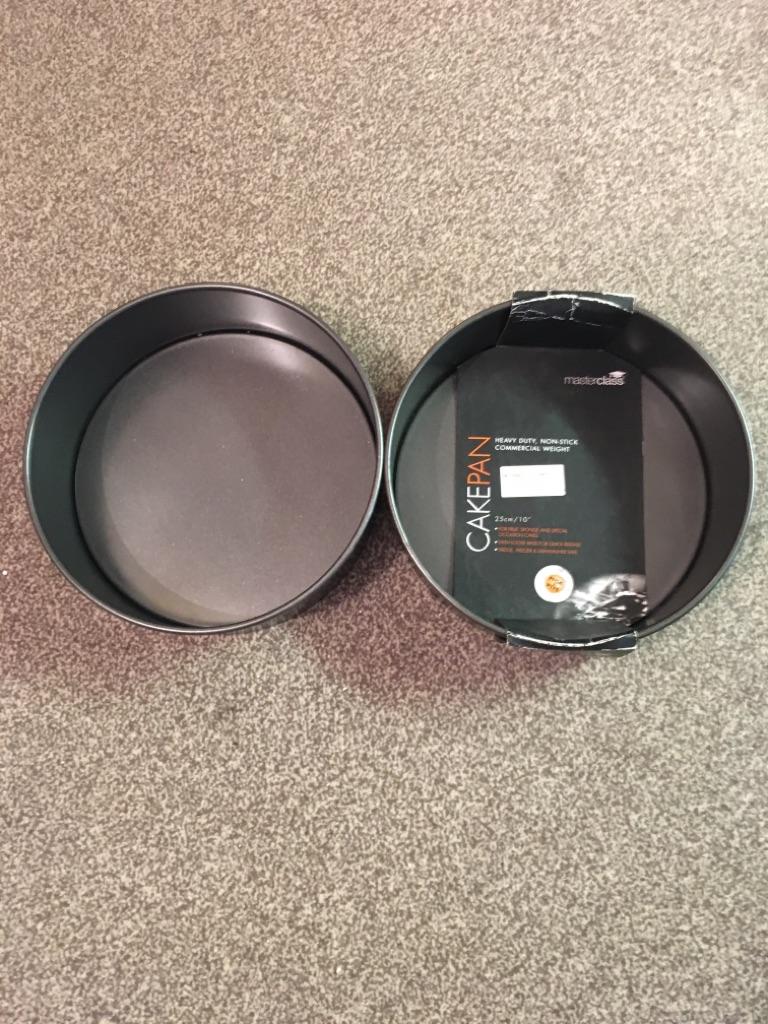 Masterclass x2 deep cake pan heavy duty non stick