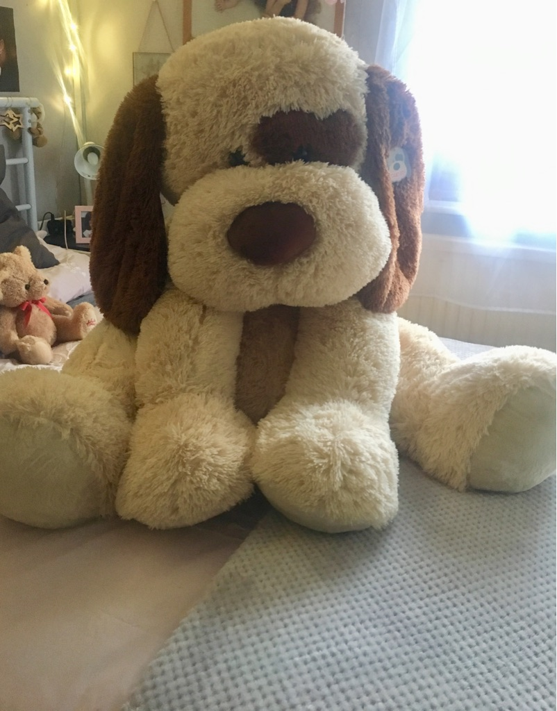 Giant dog stuffed toy - unwanted Xmas present - originally £35