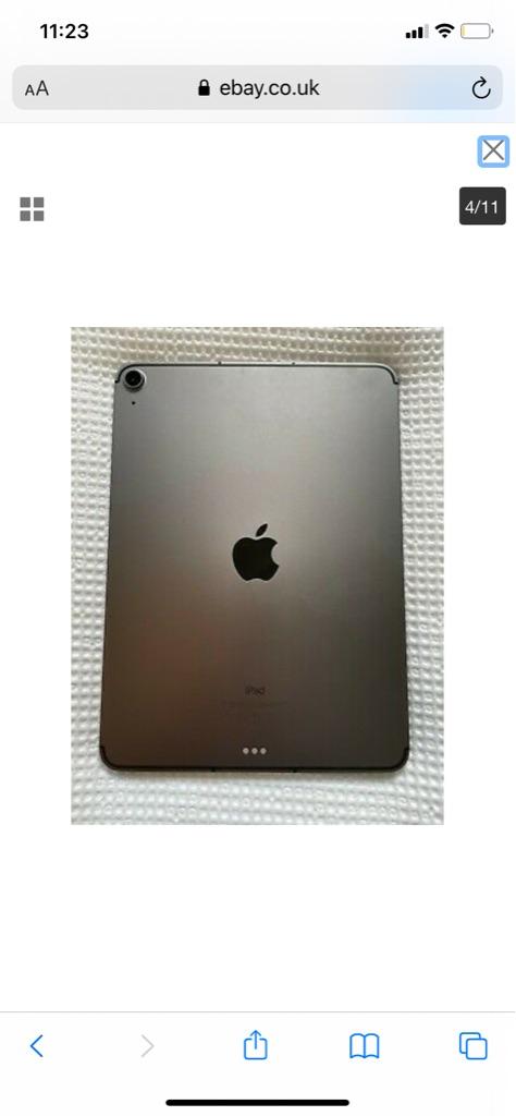 Apple iPad Air 4th Gen. 256GB, Wi-Fi + Cellular, Space Grey & Case Bundle