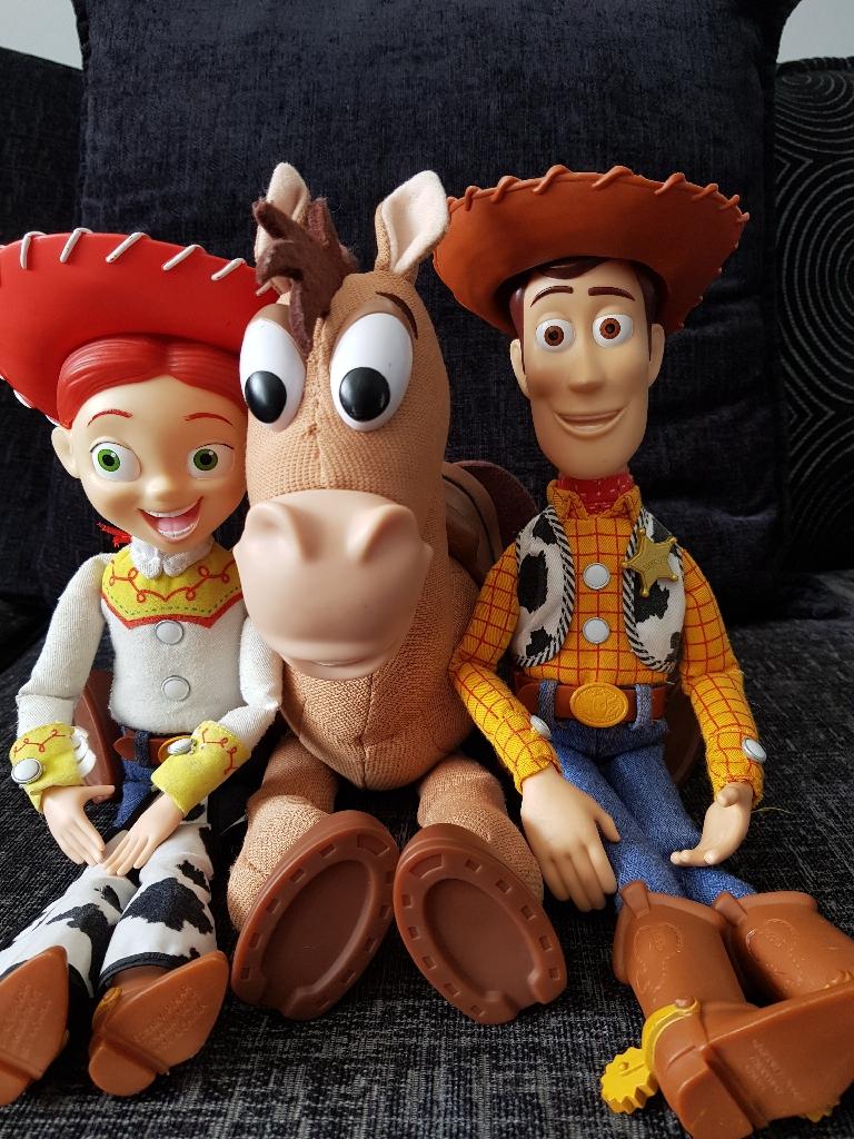 Toy Story talking Woody, Jessie and Bullseye