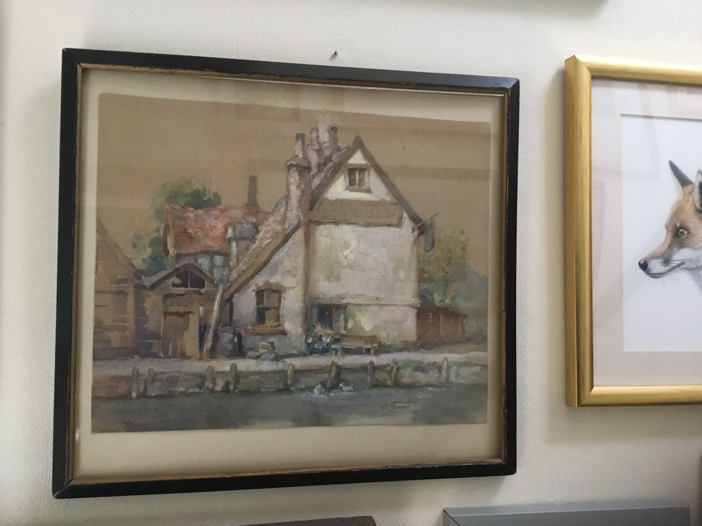 Watercolour painting signed William Stewart 1823 1906