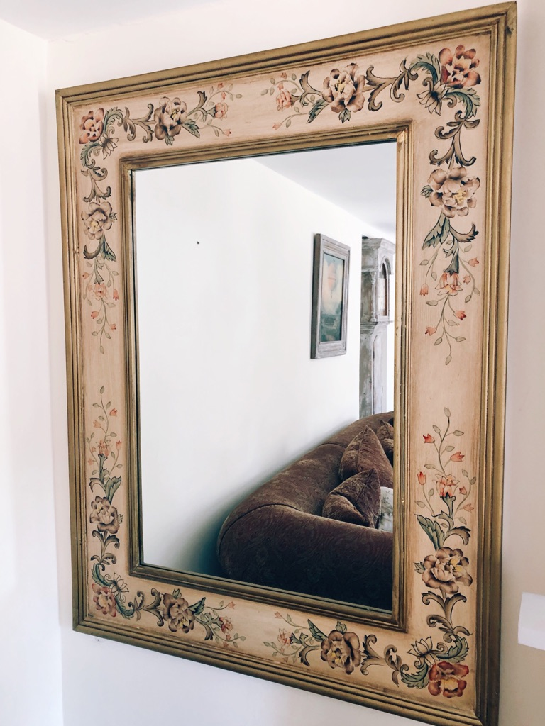 Large antique French style decorative mirror
