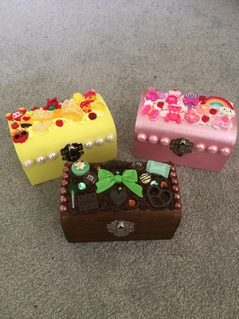 Kawaii decoden small trinket box