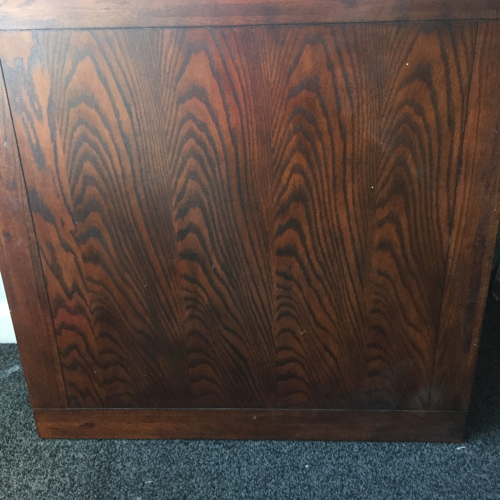 Solid dark oak table