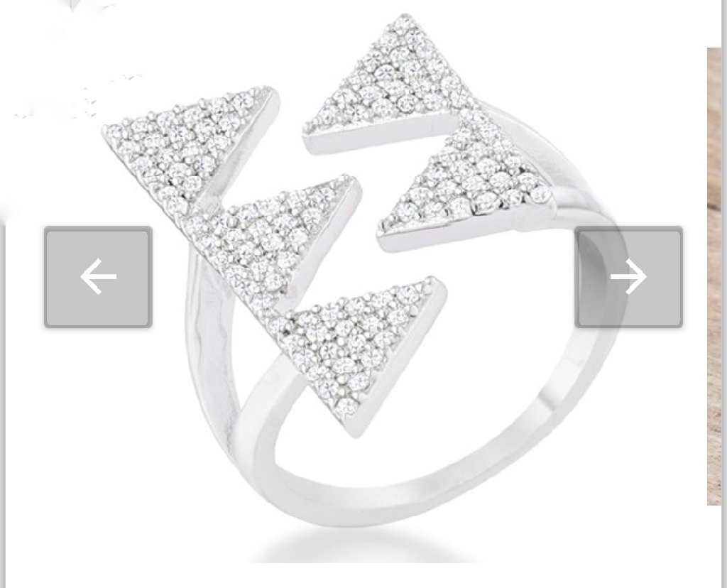 Gorgeous White Gold Rhodium Plated CZ