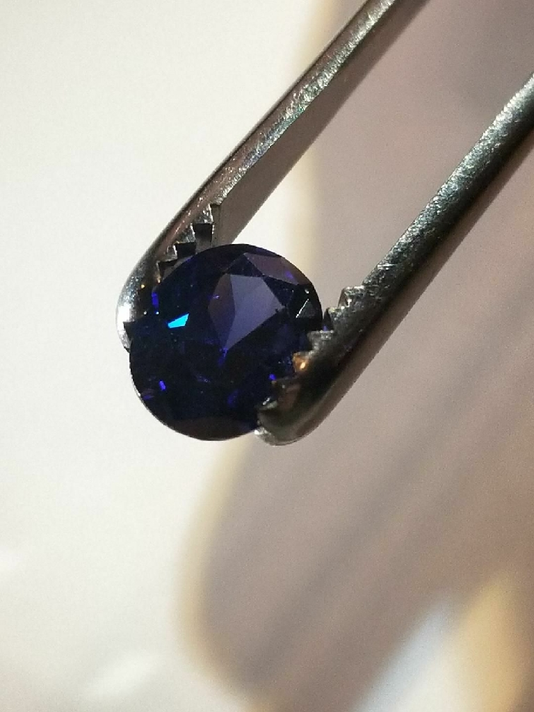 AAA color oval cut lab created sapphire