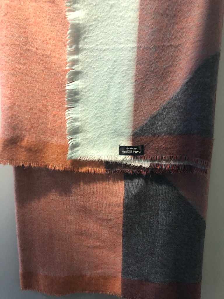 Zara Geometric Colour Block Scarf