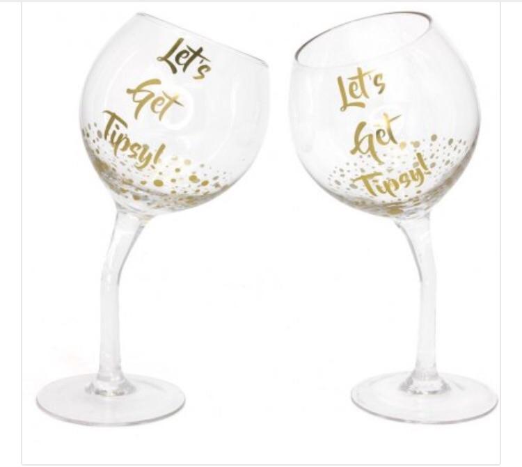 Slogan Glasses (gin glass) pre order now - receive beg Dec