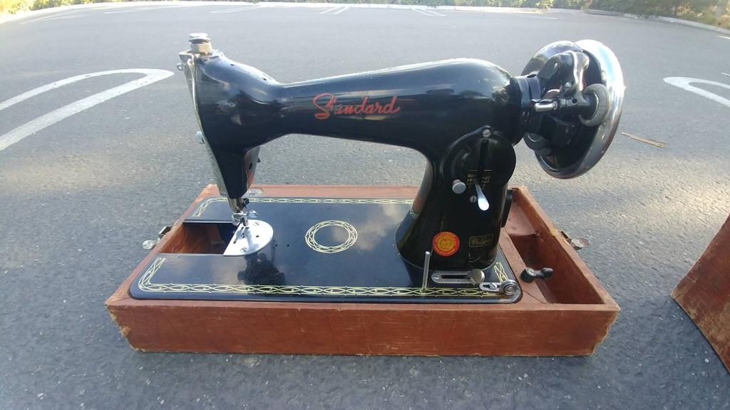 Antique standard portable sewing machine