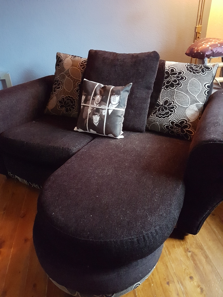 Excellent condition black sofa
